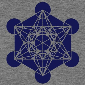 Metatrons Cube - Vector - Flower of Life / Long Sleeve Shirts - Women's Wideneck Sweatshirt