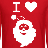 Design ~ I LOVE SANTA CLAUS - Men's' Sweatshirt