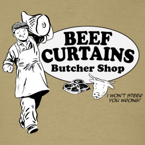 Beef Curtains Butcher Shop - Men's T-Shirt