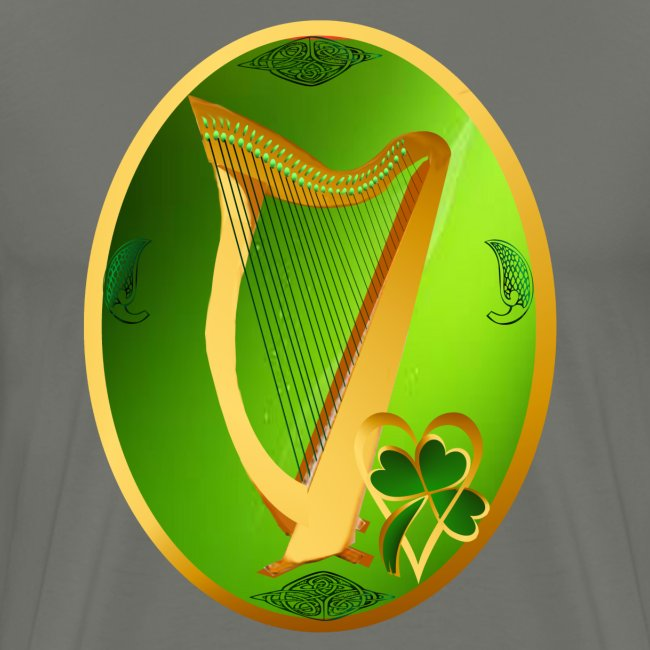 Irish Celtic Harp Oval