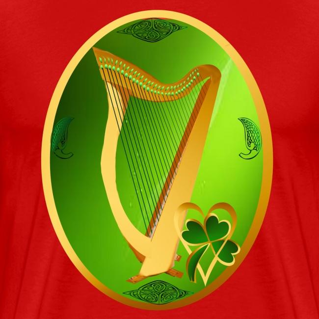 Irish Celtic Harp Oval