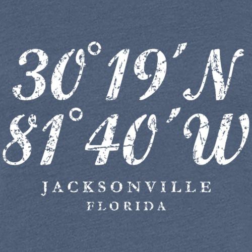 Jacksonville, Florida Coordinates (Ancient White)