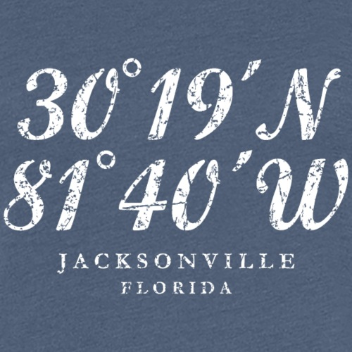 Jacksonville, Florida Coordinates (Ancient White)