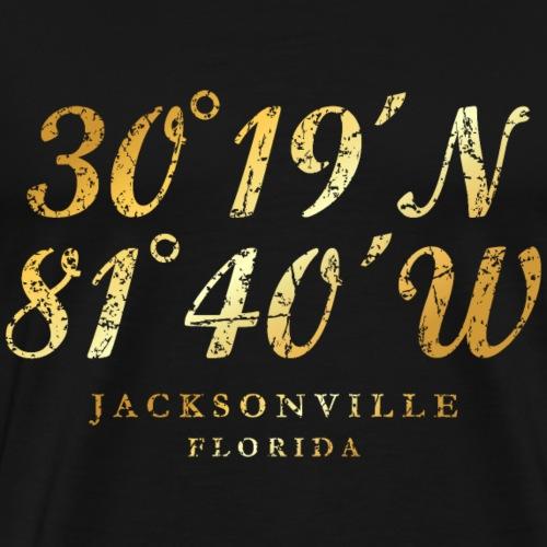 Jacksonville, Florida Coordinates (Ancient Gold)