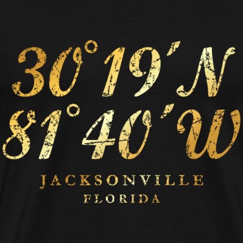 Jacksonville, Florida Coordinates (Ancient Gold)