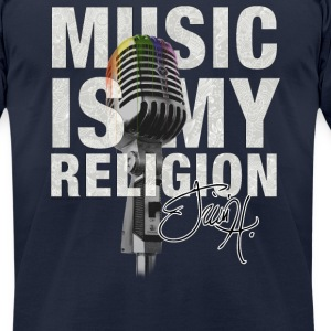 Music is my religion T-Shirts - Men's T-Shirt by American Apparel