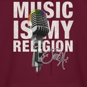 Music is my religion Hoodies - Men's Hoodie