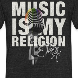 Music is my religion T-Shirts - Unisex Tri-Blend T-Shirt by American Apparel