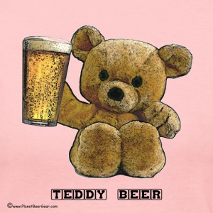 Teddy Beer Long Sleeve Jersey T-Shirt - Women's Long Sleeve Jersey T-Shirt