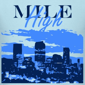 Denver- Mile High Skyline T-Shirts - Men's T-Shirt
