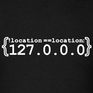 No place like 127.0.0.0 (1c) T-Shirts - Men's T-Shirt