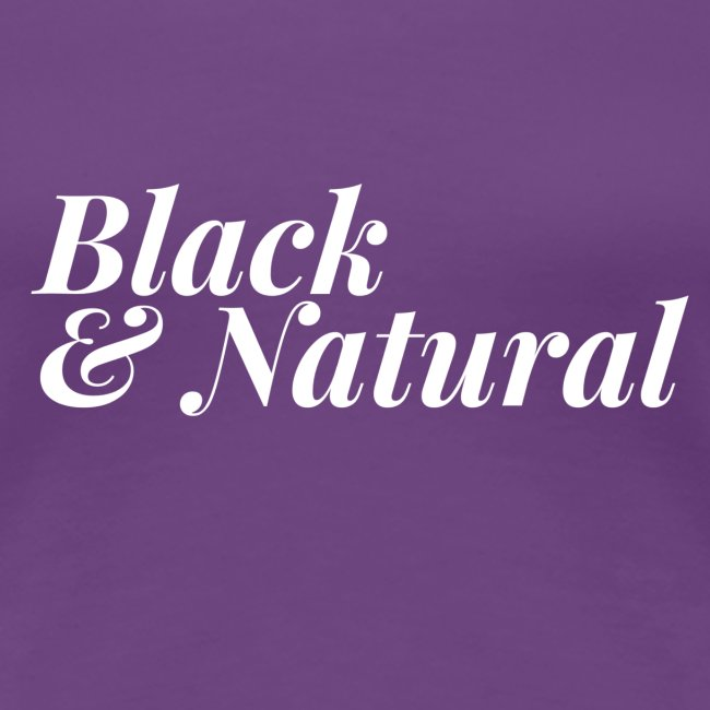Black & Natural Women's Tee