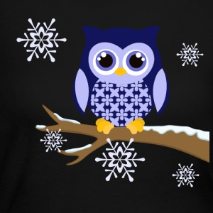 Winter blue owl Women's long sleeved t-shirt - Women's Long Sleeve Jersey T-Shirt