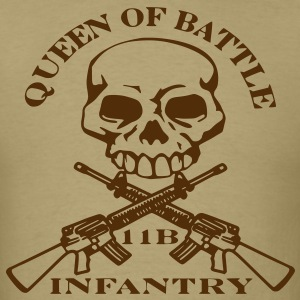 Men's Brown Queen of Battle Army Shirt - Men's T-Shirt