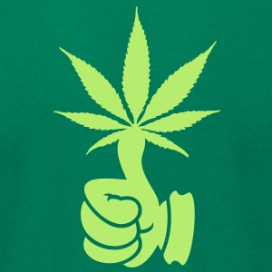 Green thumb 4 weed (1c) T-Shirts - Men's T-Shirt by American Apparel