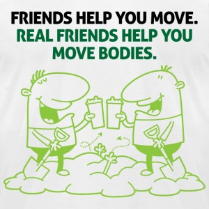 Real Friends Help 2 (dd)++2012 T-shirts (manches courtes) - T-shirt pour hommes American Apparel