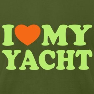 I love my yacht T-Shirts - Men's T-Shirt by American Apparel