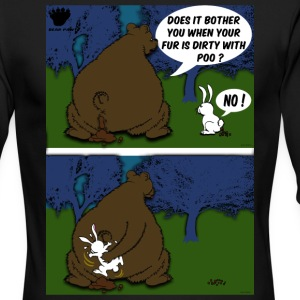Bear Paw When a Bear poos in the woods Long Sleeve Shirts - Men's Long Sleeve T-Shirt by Next Level