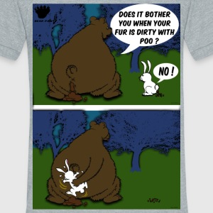 Bear Paw When a Bear poos in the woods T-Shirts - Unisex Tri-Blend T-Shirt by American Apparel