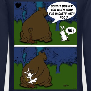 Bear Paw When a Bear poos in the woods Long Sleeve Shirts - Crewneck Sweatshirt