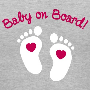 Baby on Board Women's T-Shirts - Women's V-Neck T-Shirt