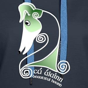 Celtic hound head green