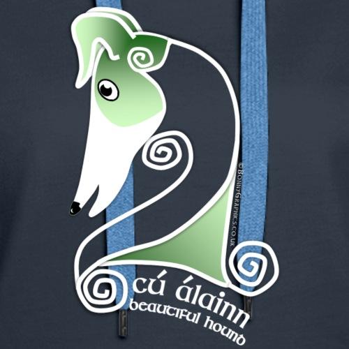 Celtic hound head green