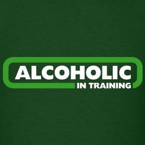 Alcoholic in Training - St Patrick's Day Edition  - Men's T-Shirt