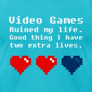 Video Games Ruined my Life - Men's T-Shirt by American Apparel