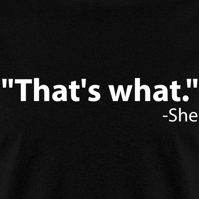 She said...