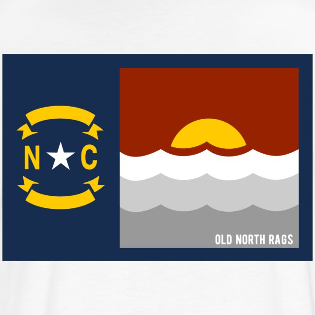 NC Beach Flag T-Shirt Back