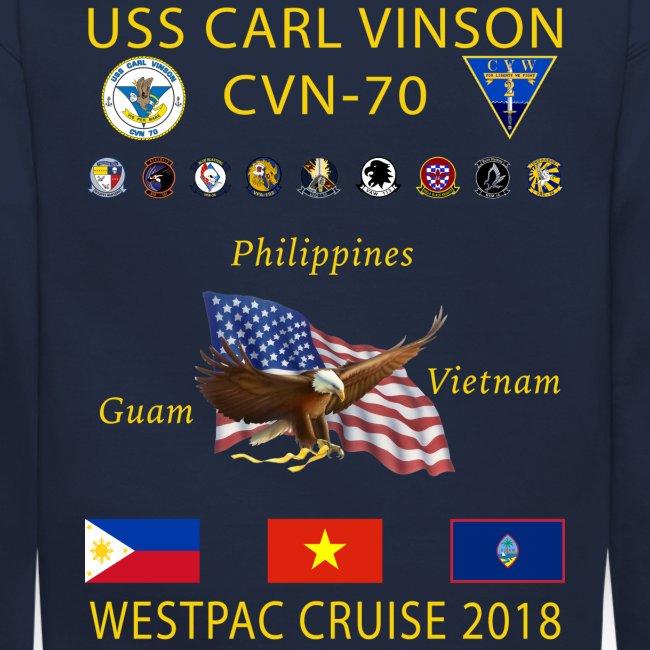 USS CARL VINSON 2018 CRUISE SWEATSHIRT