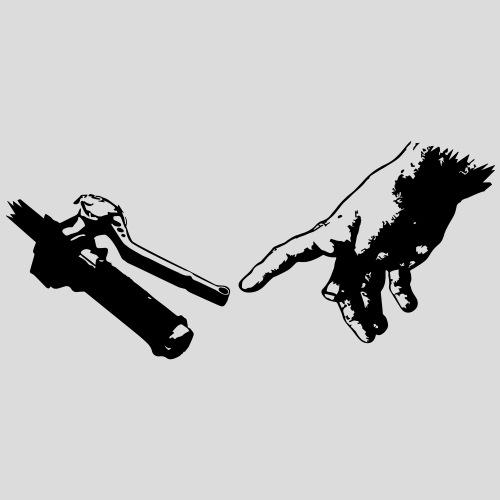 God Hand motorcycle handle
