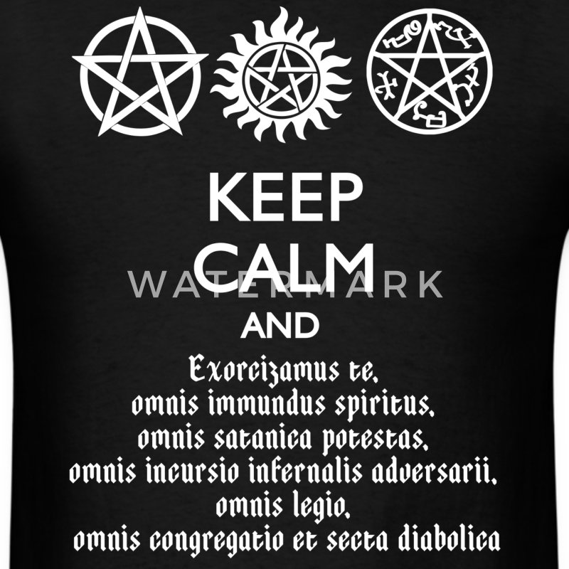Supernatural Keep Calm And Exorcise T-Shirt