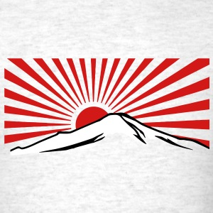 Mt. Fuji with rising sun japan T-Shirts - Men's T-Shirt