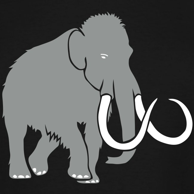 animal t-shirt mammoth elephant tusk ice age mammut