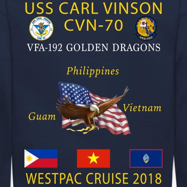VFA-192 w/ USS CARL VINSON 2018 CRUISE SWEATSHIRT