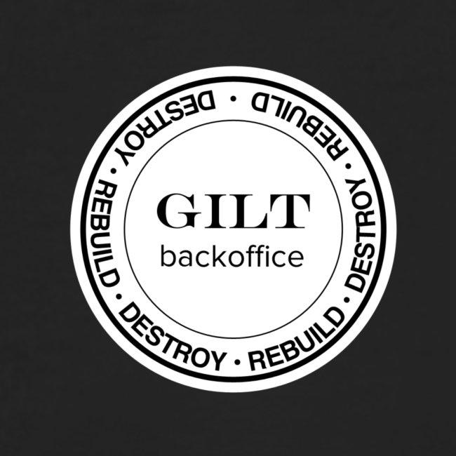 Gilt Backoffice Short-sleeve - Front Simple / Back Rebuild, Destroy