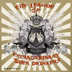 The League of Extraordinary Beer Drinkers Crest T-