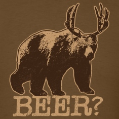 Bear + Deer = BEER - Tee - Brown