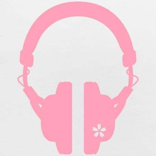 ヘッドフォンと桜A