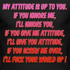 My Attitude joke Long Sleeve Shirts