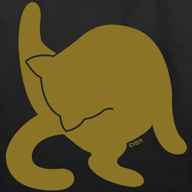 Bathing Kitty (Metallic Gold)