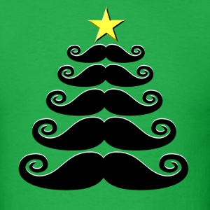 Stache-mas Tree - Men's T-Shirt