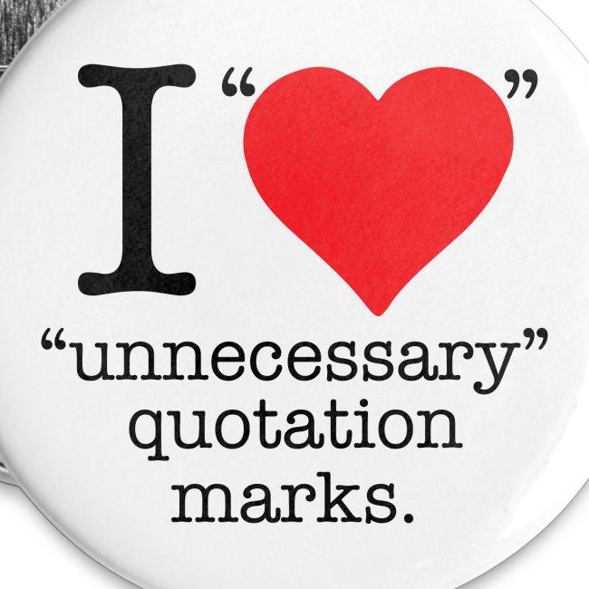 Unnecesarry quotation marks mini button.