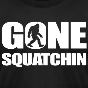 Gone Squatchin1 T-Shirts - Men's T-Shirt by American Apparel