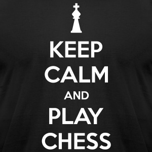 Keep Calm and Play Chess Men's T-shirt - Men's T-Shirt by American Apparel