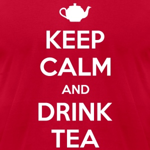 Keep Calm and Drink Tea Men's T-shirt - Men's T-Shirt by American Apparel