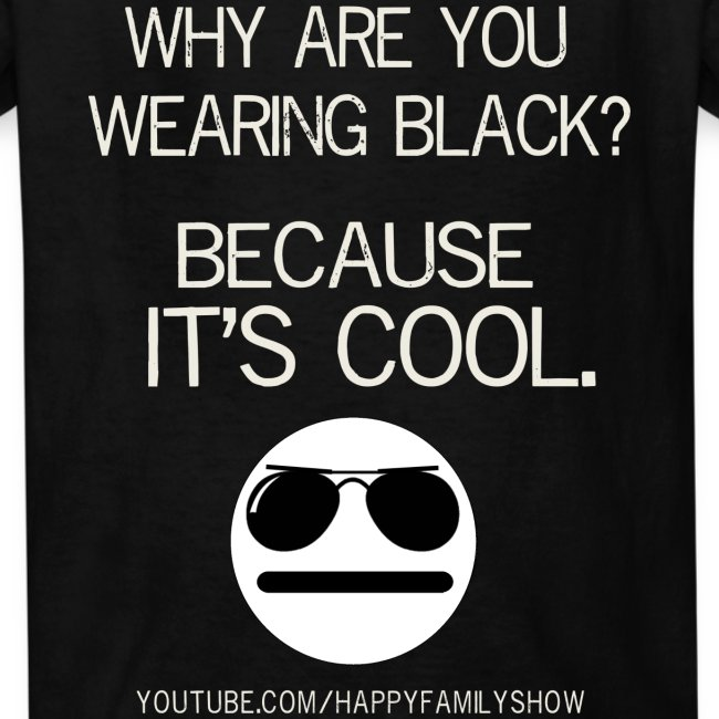 """Why are you wearing black?"" Boys T-Shirt"