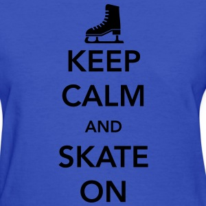 Keep Calm and Skate on Ice Women's T-Shirts - Women's T-Shirt